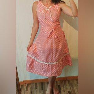 true Vintage Kleid aus 70er 80er süß besonders selten Punkte