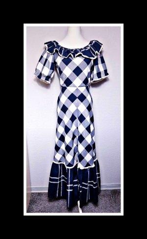 True Vintage Kleid, kariertes Vintage Maxikleid