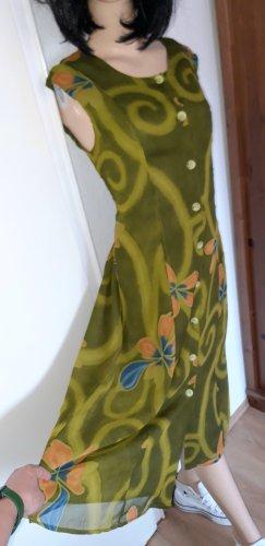 true vintage Kleid L 40 midikleid midi retro 80er 90er Sommerkleid Knöpfe Blumen geblumt floral Viskose