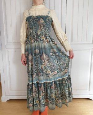 True Vintage Kleid Paula Lee Victorian Style Dress Bluse Hemd Rock Pulli Pullover