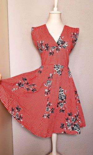 Vintage Petticoat Dress white-red