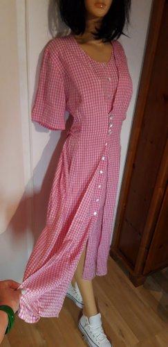 true vintage Kleid XL Maxikleid maxi retro 80er 90er Sommerkleid kariert Viscose Knöpfe midi landhauskleid