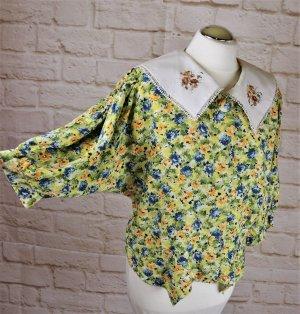 True Vintage Blusa con lazo multicolor Viscosa