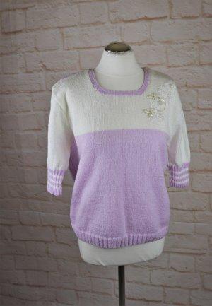 Vintage Short Sleeve Sweater multicolored mixture fibre