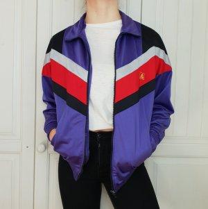 True Vintage L Pulli Pullover Jacke Trainigsjacke Training Hoodie Sweater Lila Hemd Oversize Bluse