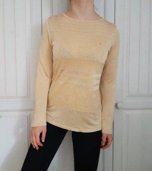 True Vintage Laurel beige nude pulli pullover sweater hoodie bluse hemd cardigan strickjacke oversize creme top