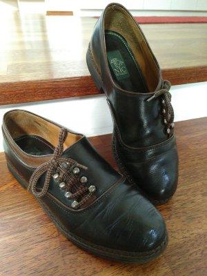 True Vintage Leder Schuhe Haferlschuh Tracht Tradition
