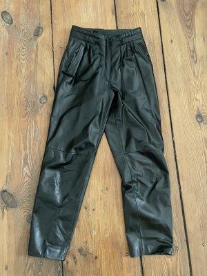 Vintage Leren broek zwart