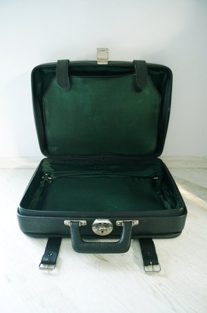 Vintage Briefcase multicolored leather