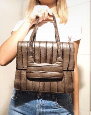 True vintage Ledertasche Handtasche