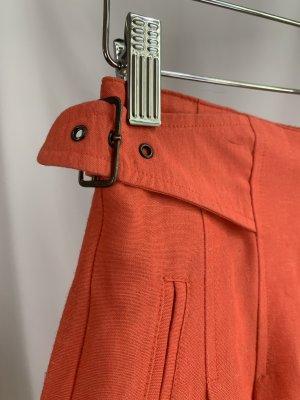 Vintage Pantalon en lin multicolore lin