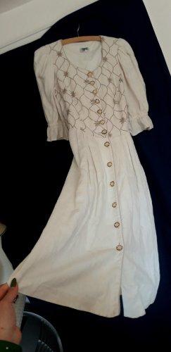 true vintage Leinenkleid L 40 midikleid midi Leinen 80er landhaus landhauskleid Sommerkleid