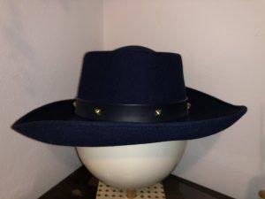 Dior Chapeau en laine bleu foncé laine