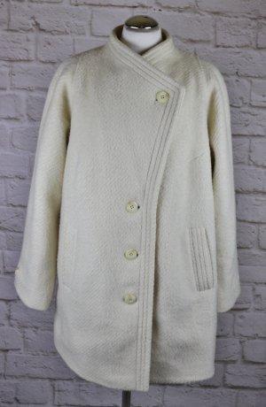 True Vintage Mantel Größe 42 Wollweiß Kurzmantel Wollmantel 60er 70er Wolle Weiß Asymetrisch