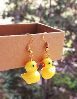 True Vintage Ohrringe kleine gelbe Ente