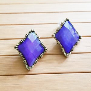 Statement Earrings gold-colored-dark violet