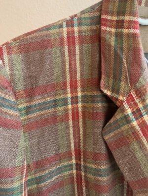 Vintage Blazer stile Boyfriend multicolore Lino