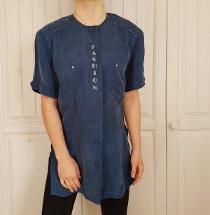 True Vintage Oversize bluse blau hemd t-shirt shirt tshirt pulli pullover sweater hoodie cardigan strickjacke
