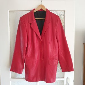 Pier Angelini Leather Blazer red leather
