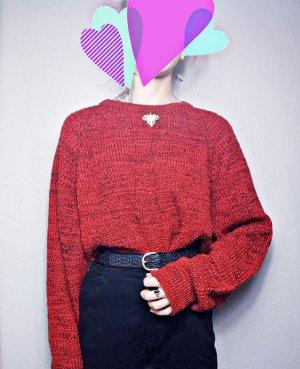 True Vintage Oversized Pullover, Acryl, Brosche Vintage