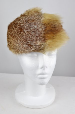 Vintage Hunting Hat sand brown-light brown pelt