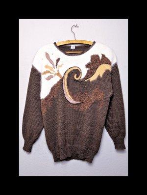True Vintage Pullover, Granny Style, Angora, Schulterpolster