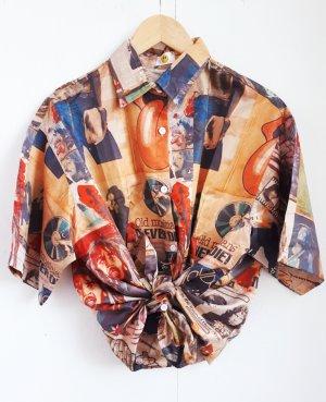 True Vintage Retro Bluse Hemd Oversize unisex Rock'n'roll 70s 80s 90s bunt