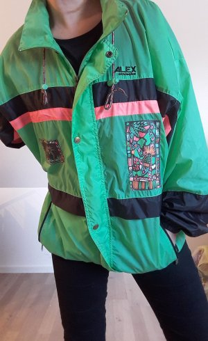 True Vintage Retro Jacke Trainingsjacke Windbreaker Regenjacke Gr. M