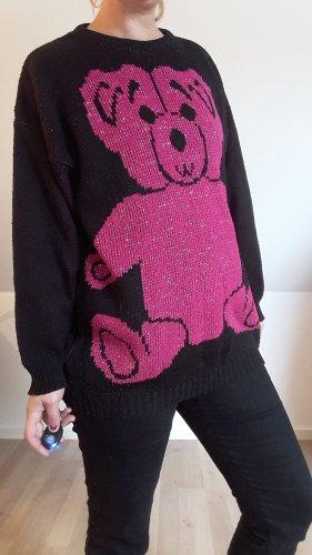 True Vintage Oversized trui zwart-roze