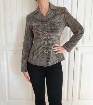 True Vintage S Blazer Jaket Jacket Jacke jakett blouson sakko kariert grau schwarz