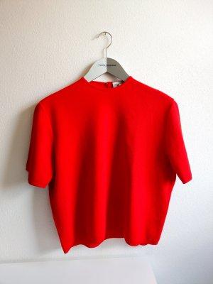 True Vintage Shirtbluse rot boxy Gr. M/L 70er 80er