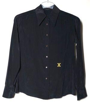 Celine Zijden blouse zwart Zijde