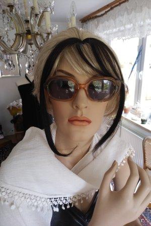 Unbekannte Marke Gafas de sol cuadradas color bronce-color rosa dorado