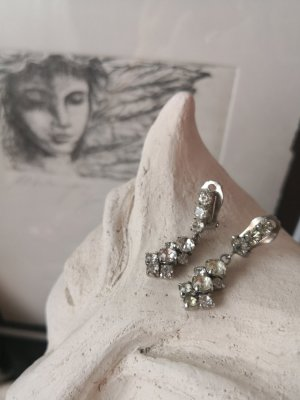 True Vintage Earclip white-silver-colored