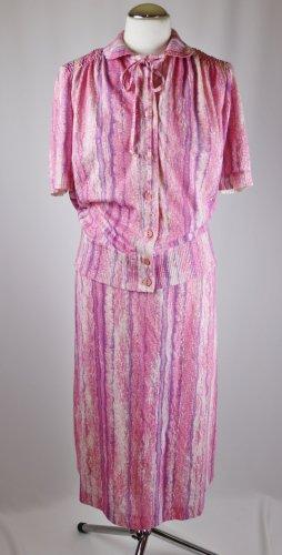 Vintage Traje para mujer multicolor tejido mezclado