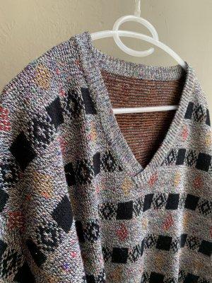 Vintage Maglione oversize multicolore