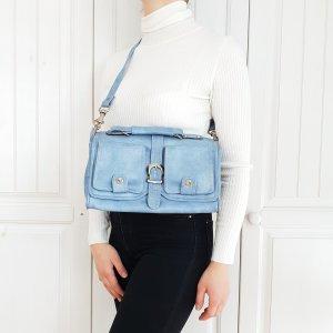True Vintage Tasche Blau Bag Handtasche Umhängetasche rucksack Tragetasche pulli pullover jacke mantel Cardigan