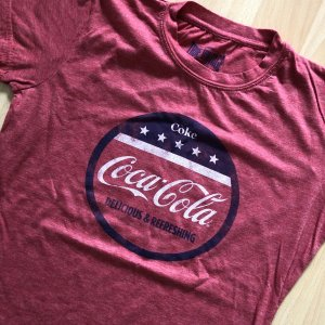 True Vintage TShirt Coca Cola Gr  S rot Shirt kurzarm Frontprint