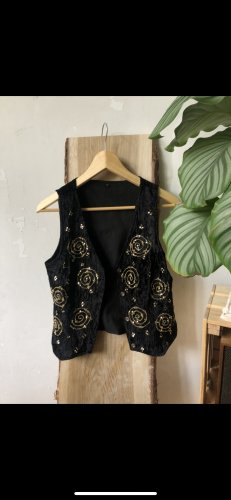 Vintage Reversible Vest black-gold-colored