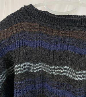 Vintage Sweter oversize Wielokolorowy Wełna
