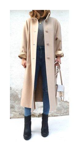 True Vintage Abrigo ancho blanco puro-crema