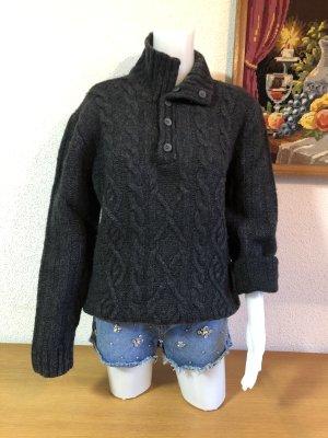 Basefield Maglione di lana grigio scuro-antracite