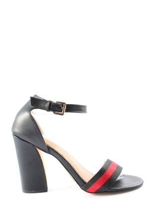 Truffle Collection Komfort-Sandalen schwarz-rot Streifenmuster Casual-Look