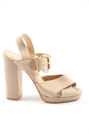 Truffle Collection Sandalo alto con plateau crema stile casual
