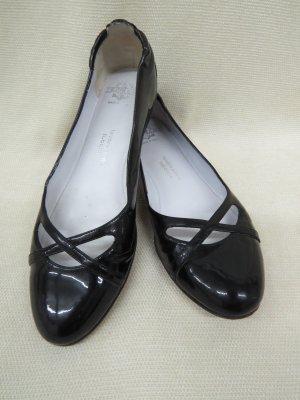 Truman's Patent Leather Ballerinas black leather