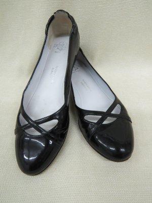 Truman's Bailarinas de charol con tacón negro Cuero