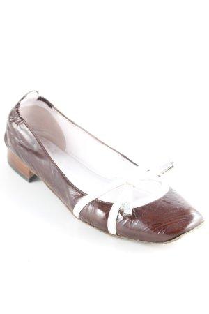 Truman's Ballerina di pelle verniciata bordeaux-bianco