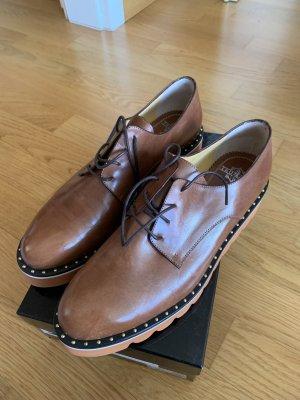 AGL Sznurowane buty brąz