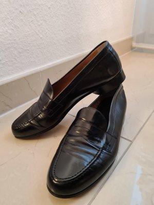 Trumans Leder Halbschuhe Mokassins Slipper in schwarz Gr. 39
