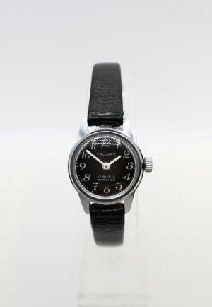 Trumpf Zegarek ze skórzanym paskiem czarny-srebrny